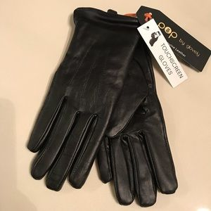 Glove.ly POP Touch Screen Leather Gloves. Sz S.